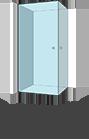 Stačiakampė kampe dvejos durys
