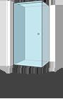 Stačiakampė kampe vienos durys